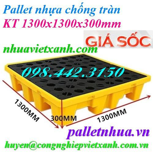 Pallet nhựa chống tràn 1300x1300mm