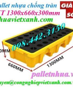 Pallet nhựa chống tràn 1300x600mm