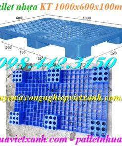 Pallet nhựa 1000x600x100mm PL04LS