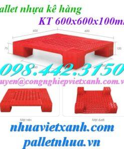 Pallet nhựa 600x600x100mm PL07LS