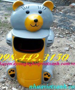 Thùng rác gấu misa