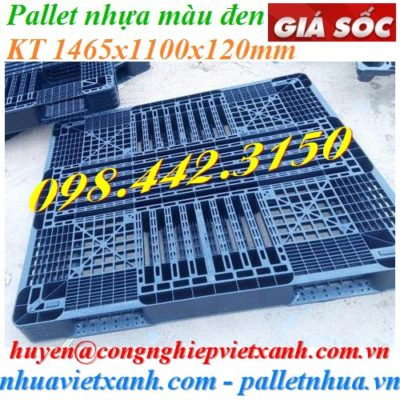 Pallet nhựa 1465x1100x120mm màu đen