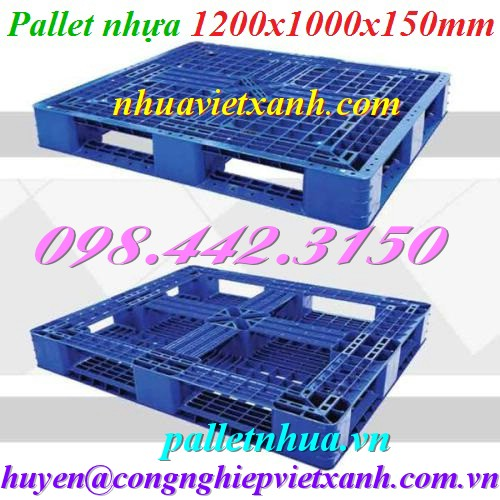 Pallet nhựa 1200x1000x150mm 480