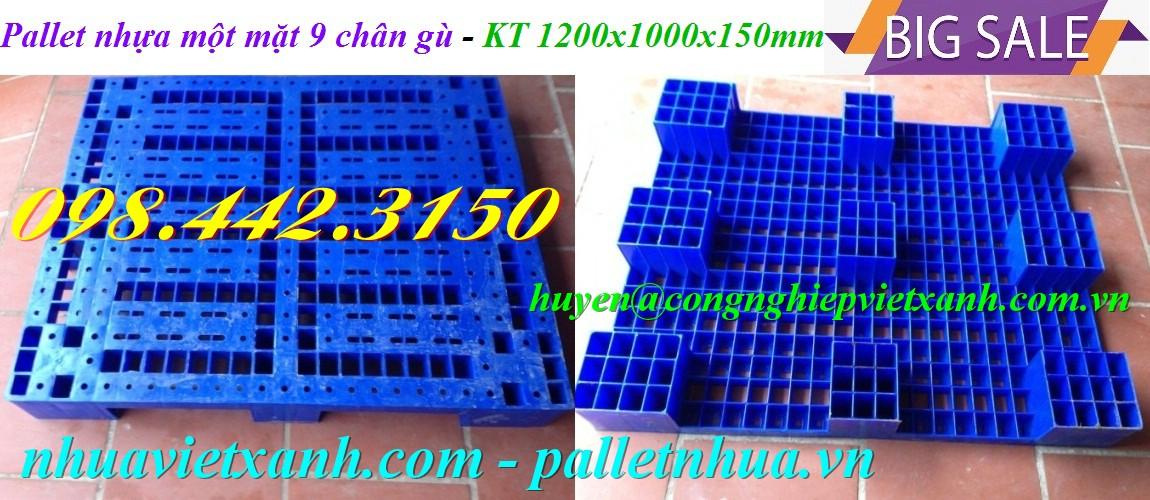 Pallet nhựa 1200x1000x150mm PL01LS