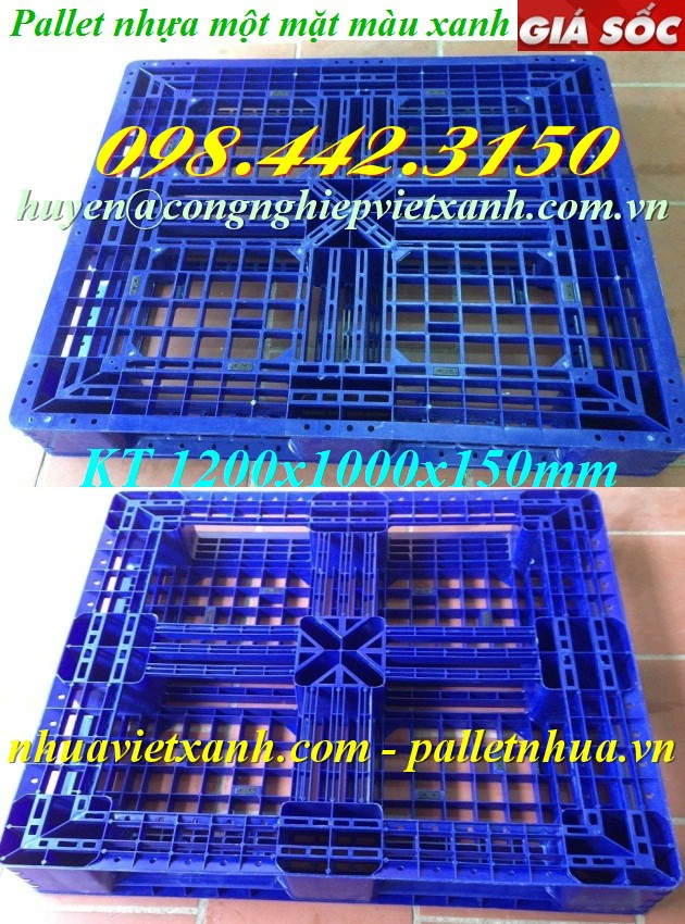 Pallet nhựa 1200x1000x150mm PL480