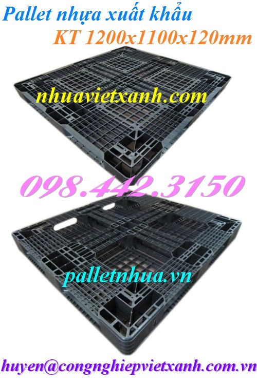 Pallet nhựa xuất khẩu 1200x1100x120mm