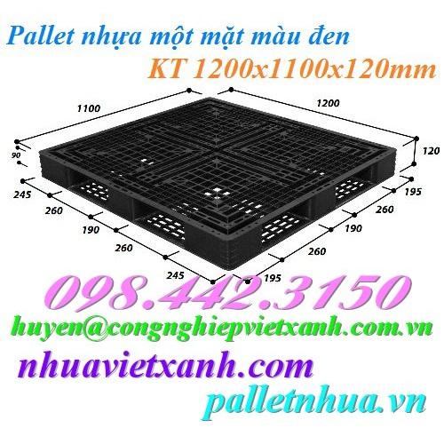 Pallet nhựa 1200x1100x120mm