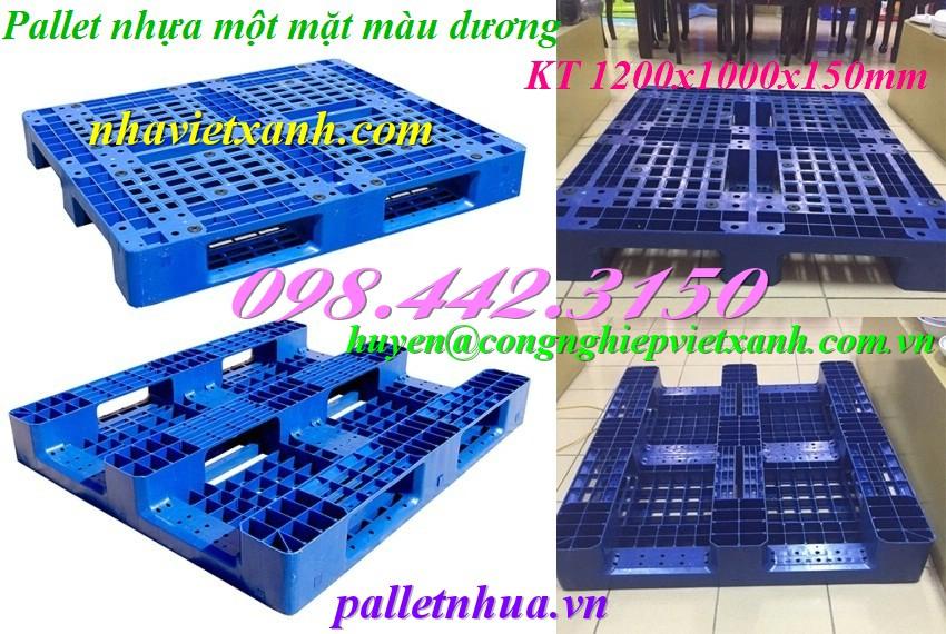 Pallet nhựa 1200x1000x150mm giá rẻ