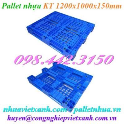 Pallet nhựa 1200x1000x150mm PL10LK