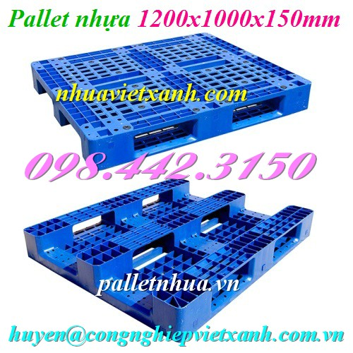 Pallet nhựa 1200x1000x150mm PL466