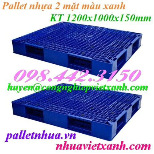 Pallet nhựa 2 mặt 1200x1000x150mm