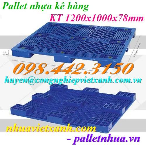 Pallet nhựa kê hàng 1200x1000x78mm