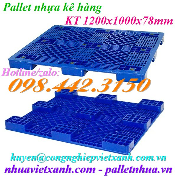Pallet nhựa 1200x1000x78mm