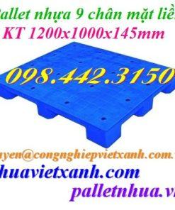 Pallet nhựa 1200x1000x145mm PL09LS