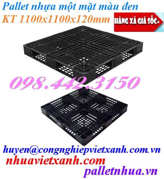 Pallet nhựa 1100x1100x120mm đen