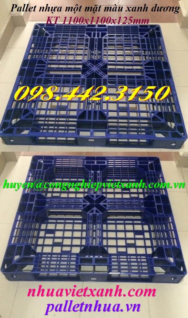 Pallet nhựa 1100x1100x125mm PL481