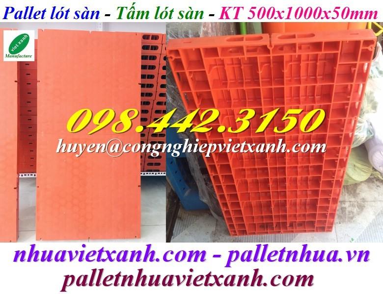 Pallet lót sàn 500x1000x50mm