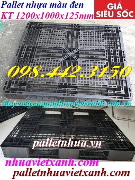 Pallet nhựa 1200x1000x125mm đen