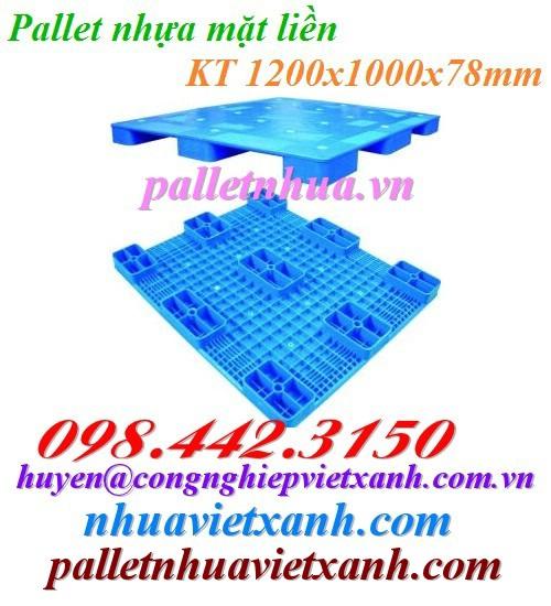 Pallet nhựa 1200x1000x78mm PL02LS