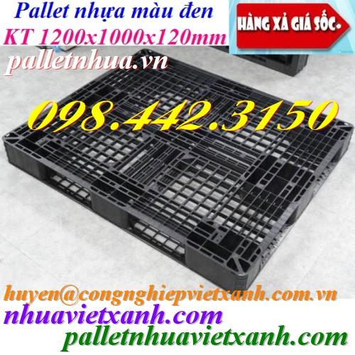 Pallet nhựa màu đen 1200x1000x120mm