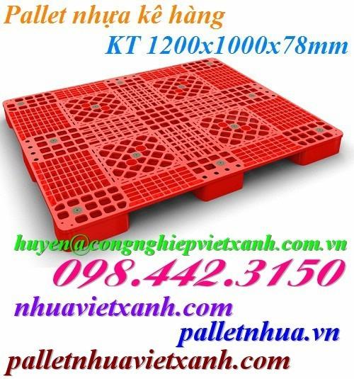Pallet nhựa PL03LS 1200x1000x78mm
