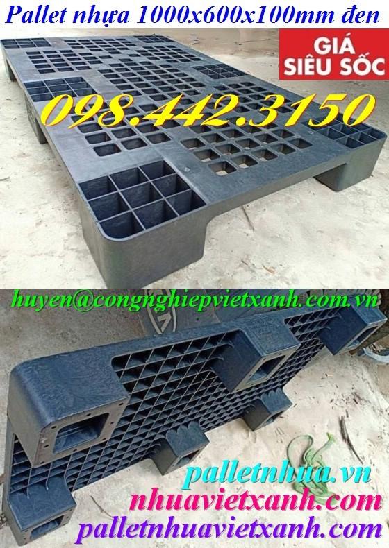 Pallet nhựa 1000x600x100mm đen