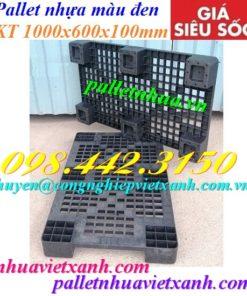 Pallet nhựa 1000x600x100mm màu đen
