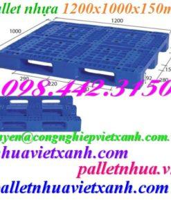 Pallet nhựa 1200x1000x150mm PL11LK