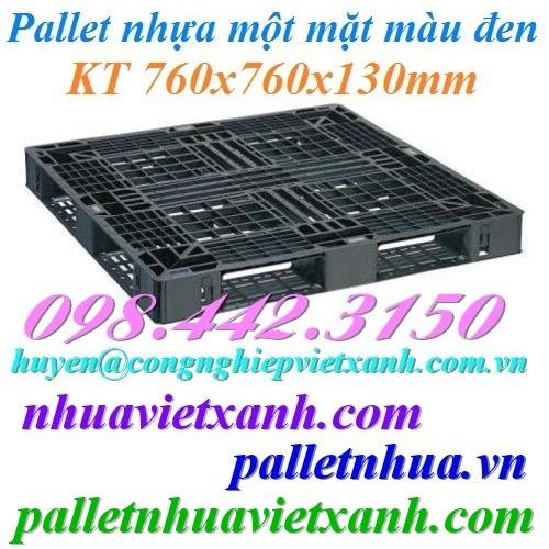 Pallet nhựa 760x760x130mm đen
