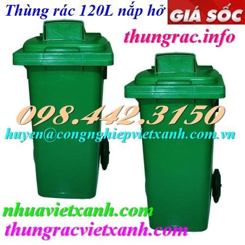 Thùng rác 120L nắp hở