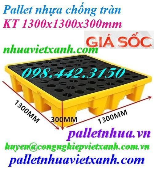 Pallet chống tràn 4 phuy 1300x1300mm