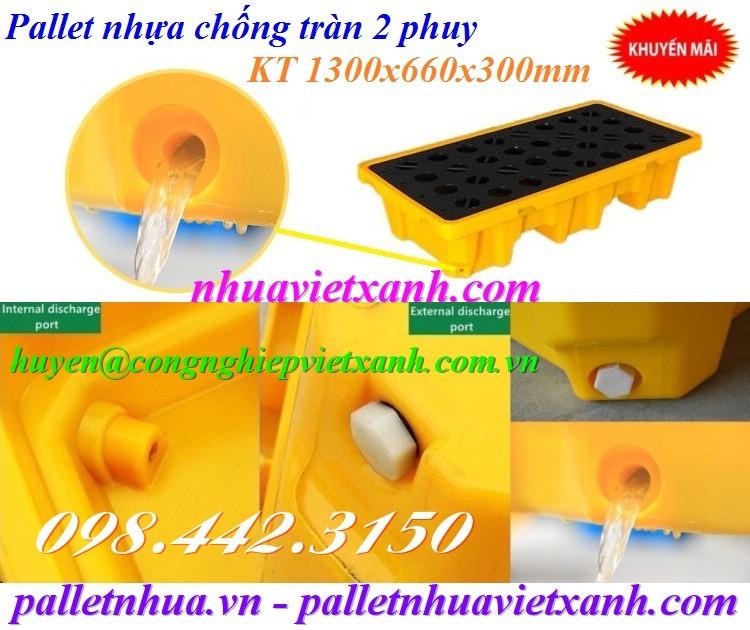 Pallet nhựa chống tràn dầu chỗ thoát dầu