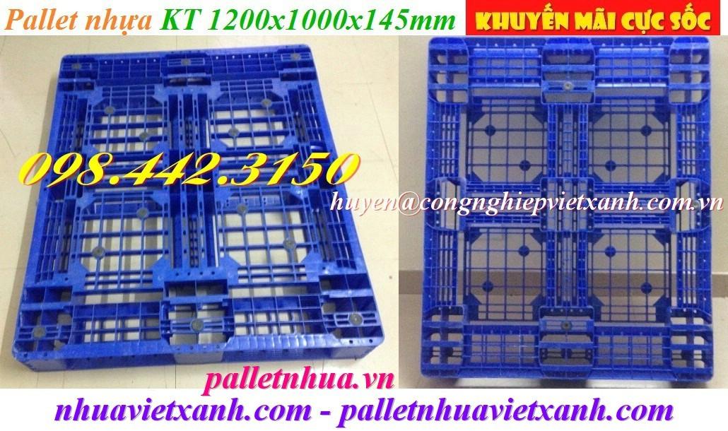 Pallet nhựa PL08LK 1200x1000x145mm