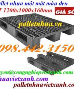 Pallet nhựa 1200x1000x160mm đen