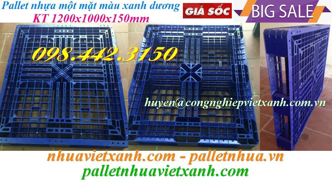 Pallet nhựa 1200x1000x150mm PL480 giá rẻ