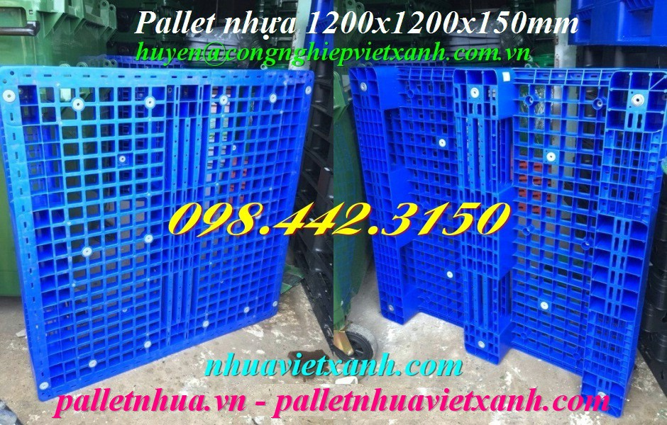 Pallet nhựa 1200x1200x150mm đan thanh P1212 giá rẻ
