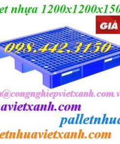 Pallet nhựa 1200x1200x150mm đan thanh P1212