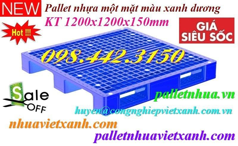 Pallet nhựa 1200x1200x150mm giá rẻ P1212