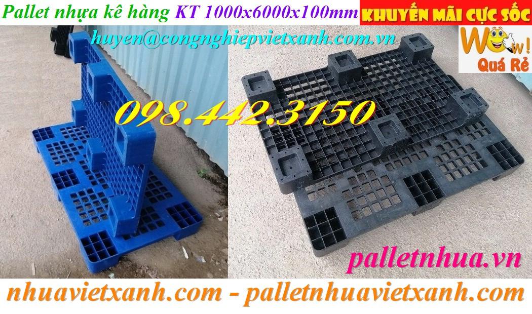 Pallet nhựa giá rẻ 1000x600x100mm