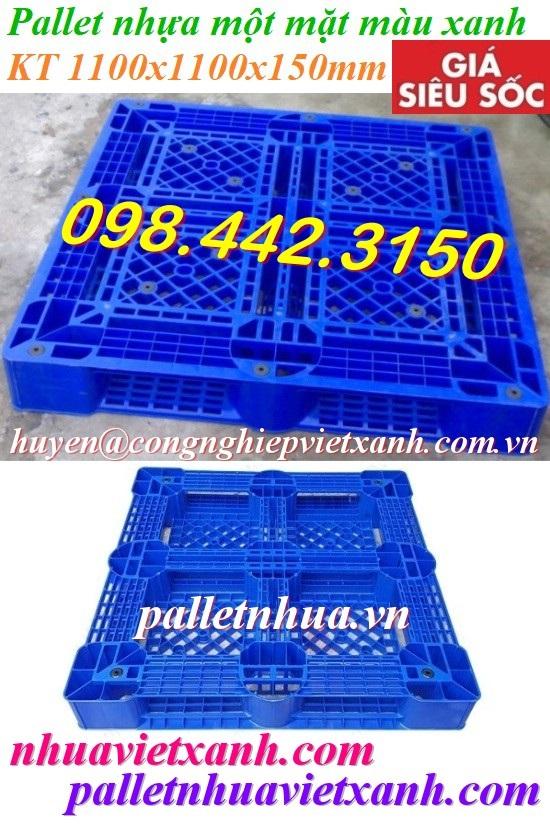 Pallet nhựa PL09LK 1100x1100x150mm