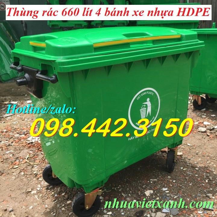 Thùng rác 660 lít VX660