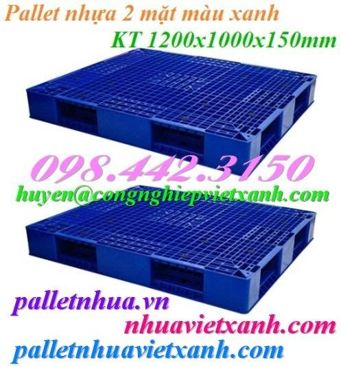 Pallet nhựa 2 mặt PL403 - 1200x1000x150mm