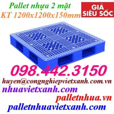 Pallet nhựa 2 mặt 1200x1200x150mm