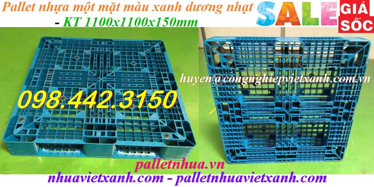 Pallet nhựa 1100x1100x150mm nhựa tái chế